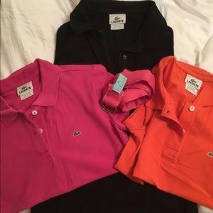 3 Lacoste shirts and a Eliza B belt